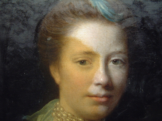 "During the varnish removal of ""Mrs. Morison of Haddo"" by Allan Ramsay"